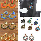 Fashion BOHO Women Vintage Style Rhinestone Dangle Drop Stud Earrings Jewelry