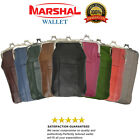 Women Patch Leather Cigarette Case Holder with Lighter Pocket New by Marshal