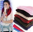 Women Winter Warm Infinity 1 Circle Cable Knit Cowl Neck  Scarf Shawl