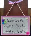BEAUTIFUL 'MUMS ARE LIKE BUTTONS' PLAQUE BIRTHDAY CHRISTMAS MOTHERS DAY GIFT