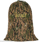 """Personalized Lg Camouflage Heavy Duty Laundry Bag 36""""h x 24""""w Free Shipping"""