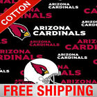 "Arizona Cardinals NFL Cotton Fabric - 60"" Wide - Style# 6239 - Free Shipping $7.95 USD on eBay"