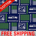 "Seattle Seahawks NFL Cotton Fabric - 60"" Wide - Style# 6470 - Free Shipping!! $15.95 USD on eBay"