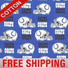 "Indianapolis Colts NFL Cotton Fabric - 60"" Wide - Style# 6006 - Free Shipping!! $15.95 USD on eBay"