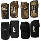 Rugged Camouflage & Black Case Pouch Cover w/Clip Holster For Large Smart Phones