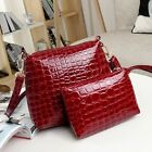 Fashion Lady Women PU Leather Handbag+Shoulder Bags Tote Satchel Double Bags