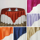 "10 SATIN SQUARE 90x90"" TABLE OVERLAYS Wedding Party Toppers Decorations SALE"