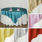 "60 x Wholesale Lot SATIN SQUARE 90x90"" TABLE OVERLAYS Wedding Party Linens SALE"