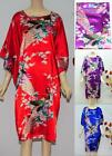Oriental Flower Kaftan Sleepwear Pyjama Night Dress Nightwear Kimono Vintage