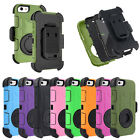 Hybrid Armor Defender Case Cover With Kickstand Belt Clip for iPhone SE /5S /5