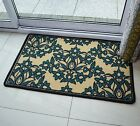 FLORAL FLOWER TEAL SMALL MEDIUM LARGE RUG RUNNER SOFT MODERN RUGS NON SHED MATS