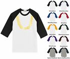 Gold Chain Hip Hop Funny Adult Raglan Baseball T-Shirt