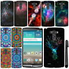 For LG G3 D850 D851 LS990 VS985 D855 Mandala Galaxy PATTERN HARD Case Cover +Pen