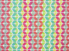 PHANTOM GEOMETRIC RETRO PRINT ROSE PINK 100% COTTON CURTAIN CRAFT FABRIC A54