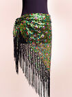 New Belly Dance Costume Peacock Hip Scarf Tribal Fringe Tassel Belt 4 colours