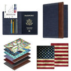 Premium Vegan Leather Passport Holder RFID Blocking Case Cover