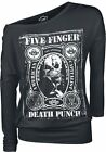FIVE FINGER DEATH PUNCH - STAMPED - OFFICIAL WOMENS LONG SLEEVE SHIRT