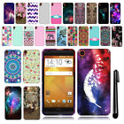 For HTC Desire 820 Design TPU SILICONE Rubber SKIN Soft Case Phone Cover + Pen