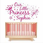 Personalised wall art sticker quote Our little princess, Baby Nursery Childrens