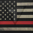 "Kydex Infused Thin Red Line Flag Print 7 7/8"" X 7 7/8"" W/Black Kydex"