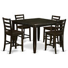 FAIR5-CAP 5 Piece counter height table Set- Square Table and 4 Stools