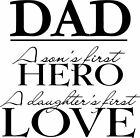 Dad Son & Daughter Wall Vinyl Sticker Decal Decor quote