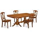NANA5-SBR 5 Piece dining table set for 4-table with Leaf and 4 chairs