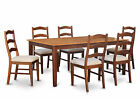 HENL9-BRN 9 Piece Dining Room Set-Dining table with Leaf and 8 Dining Chairs.