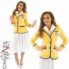 Ladies 80s Hi De Hi Costume Yellow Coat Womens Adult Fancy Dress UK SIZES 8 - 30