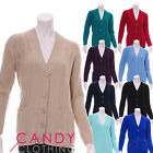 Boyfriend Pocket Cable Knitted Cardigan Grandad Top Plus Size 10 - 34