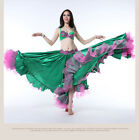 W2362 Belly Dance Costume Outfit Set Bra Top Skirt Dress Carnival Bollywood 2PCS