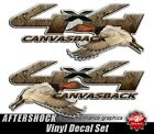 4x4 Truck Sticker Canvasback Duck Hunting Camo Decal Set
