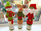 Cute Father Christmas Reindeer Snowman Wine Bottle Cover Table Decoration Gift