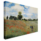 Monet, Claude (1840-1926), Wild Poppies Canvas Wall Art prints high quality