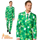 Adult St Patrick Day Suit Irish Clover Ireland Shamrock Fancy Dress Outfit New