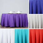 """6 pcs Wholesale Lot 132"""" ROUND POLYESTER TABLECLOTHS for Wedding or Restaurant"""