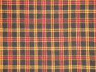 Brown Plaid Fabric | Rag Quilt Fabric | Cotton Fabric | Home Decor Fabric