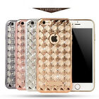 Grid Weave TPU diamond case Silicone Soft Back cover for iphone 6 6S / 6S plus