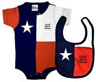 Baby Texas Lone Star Flag One peice onesie!! God Bless TEXAS BIB patriotic!!
