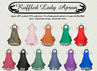 Lady Ruffled Apron  Various Colors available  Gift Ideas