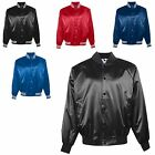 MEN'S LINED, WATER RESISTANT, SNAP FRONT, SATIN BASEBALL JACKET S-XL 2X 3X 4X 5X