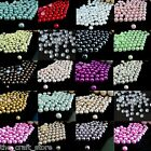 1000 PEARL BEADS - HALF ROUND RESIN BEADS - ARTS CRAFTS - 2mm, 3mm, 4mm, 5mm