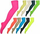 New Ladies Thigh High Plain Over Knee Womens Long Stretch Cotton Overknee Socks