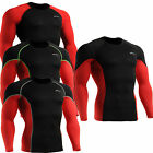 Mens Womens Compression tight shirts running sports Base layer Top S~2XL