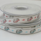 PER METRE  new berIsfords HIPPY VAN ribbon  15mm  wide PINK OR BLUE