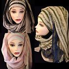 Printed Pattern long big size Womens scarf, hijab, viscose shawl
