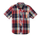 Element Big Boys (8-20) Larchmont Woven Shirts-Red/Blue