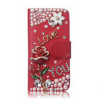Hot Luxury Bling Diamond Crystal Leather Flip Wallet Stand Card Phone Case Cover
