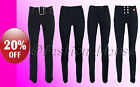 Ladies Girls Black Grey Stretch Hipster School Trousers Sexy Miss Sexies/Reverse