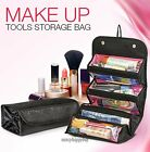 Travel Roll-up Cosmetic Makeup Case Organizer Pouch Hanging Toiletry Wash Bag